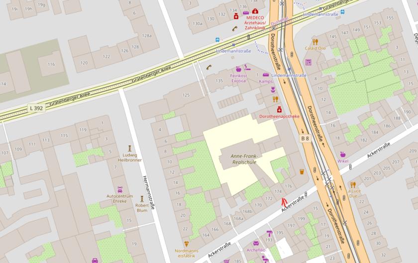 Karte Anne-Frank-Realschule