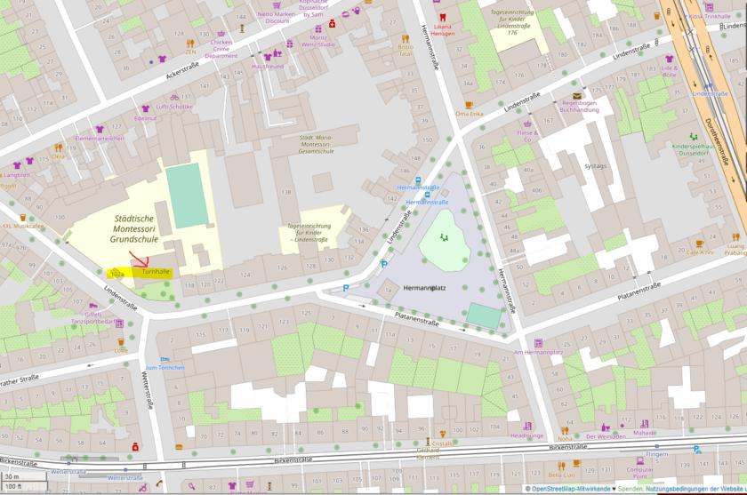 Karte Montessori-Grundschule